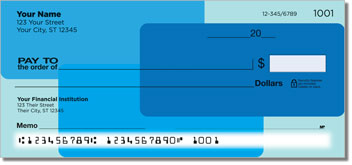 Blue Rectangle Personal Checks