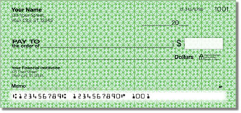 Green Box Scroll Personal Checks