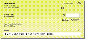 Yellow Box Scroll Personal Checks