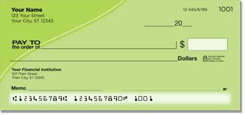 Green Curve Personal Checks