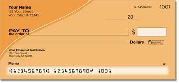 Orange Curve Personal Checks