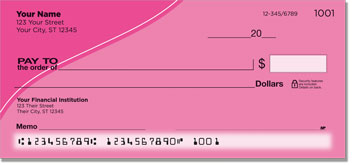Pink Curve Personal Checks