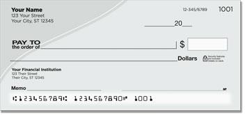 Silver Curve Personal Checks