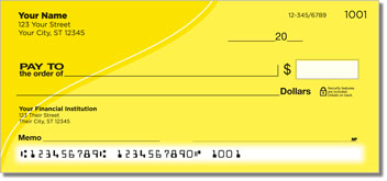 Yellow Curve Personal Checks
