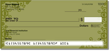 Gold Corner Scroll Personal Checks