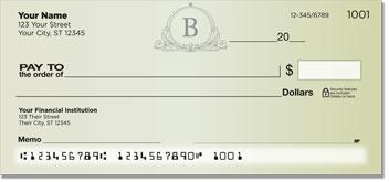 B Monogram Personal Checks