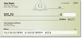 G Monogram Personal Checks