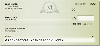 M Monogram Personal Checks