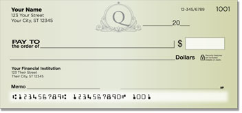 Q Monogram Personal Checks