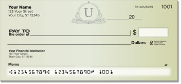 U Monogram Personal Checks