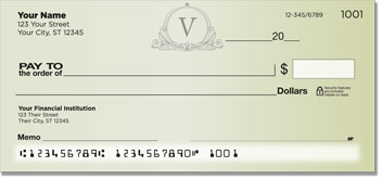 V Monogram Personal Checks