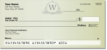 W Monogram Personal Checks