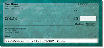 Blue Burlap Personal Checks