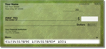 Green Burlap Personal Checks