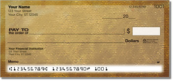 Brown Burlap Personal Checks