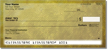 Yellow Burlap Personal Checks