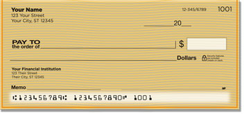 Orange Safety Personal Checks