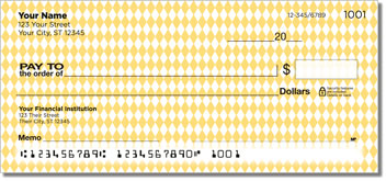 Yellow Diamond Personal Checks