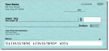 Blue Stipple Personal Checks