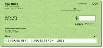 Green Stipple Personal Checks