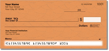 Orange Stipple Personal Checks