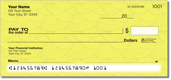 Yellow Stipple Personal Checks
