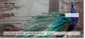 Colorful Peacock Personal Checks
