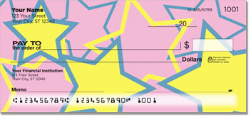 Multi-Colored Stars Personal Checks