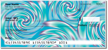 Psychedelic Swirl Personal Checks