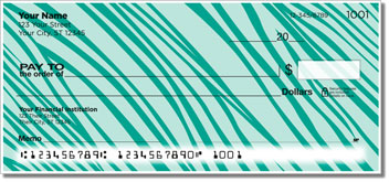 Colorful Animal Print Personal Checks