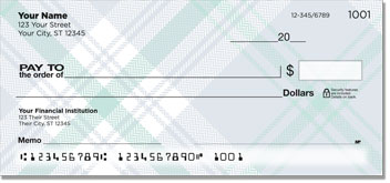 Pretty in Plaid Personal Checks