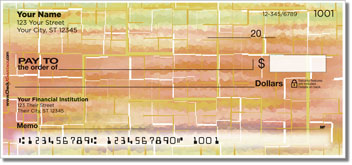Painted Tile Personal Checks