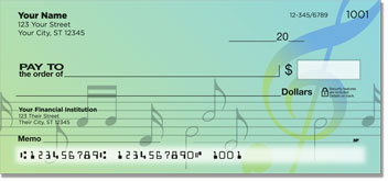 Musical Note Personal Checks