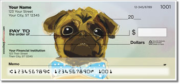 Dog Painting Personal Checks