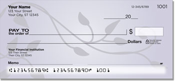 Violet Vine Personal Checks