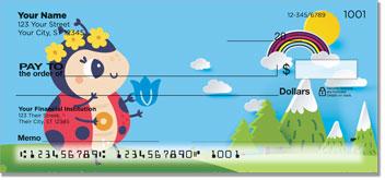Cute Ladybug Personal Checks