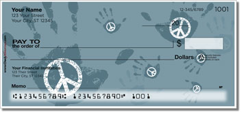 Peace & Love Personal Checks