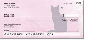 Cat Silhouette Personal Checks
