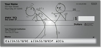 Kung Fu Stick Figure Personal Checks
