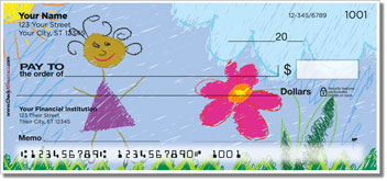 Kid Drawing Personal Checks