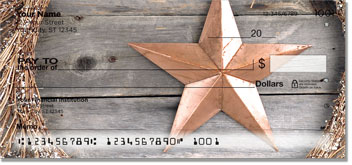 Rustic Star Personal Checks