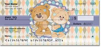 Cute Teddy Bear Personal Checks
