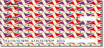 Random Retro Patterns Personal Checks