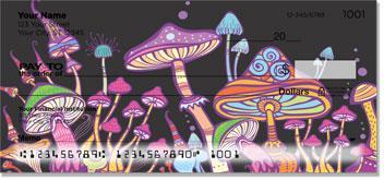 Retro Mushroom checkbook
