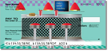 Fifties Diner Personal Checks