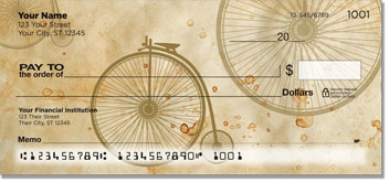 Vintage Bicycle Personal Checks