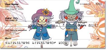 Smiling Scarecrow Personal Checks