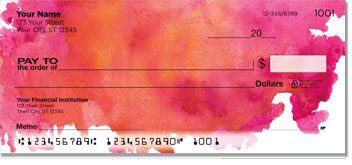 Watercolor Personal Checks