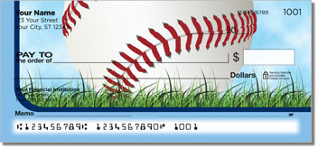 Blue Baseball Fan Personal Checks