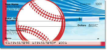 Red & Blue Baseball Fan Personal Checks